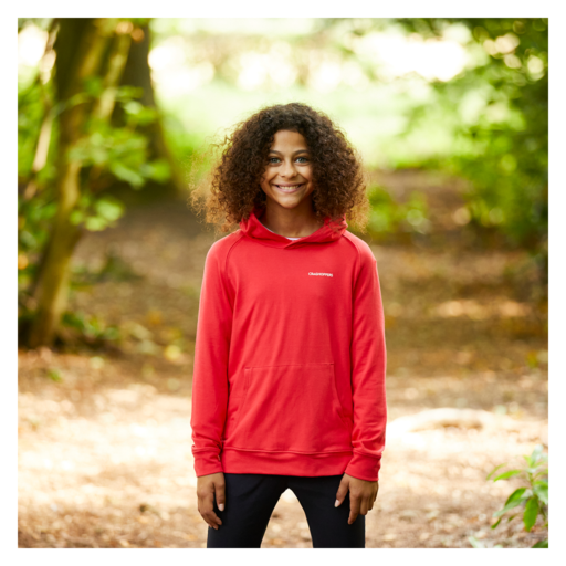 Craghoppers Kid's NosiLife Bonito Hooded Top – Rio Red