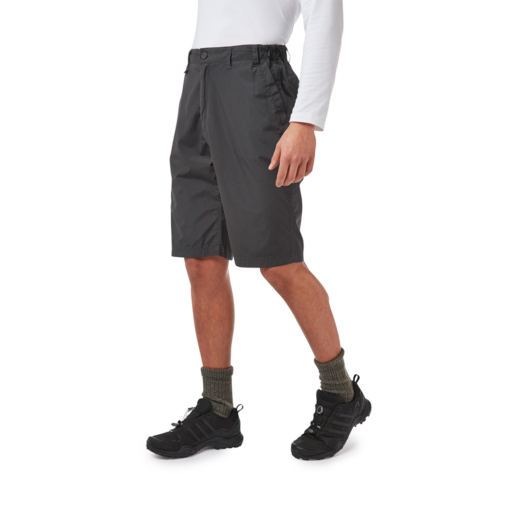 Craghoppers Kiwi Long Shorts – Black Pepper