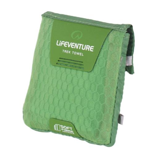 Lifeventure SoftFibre Travel Towel – Pocket – Green