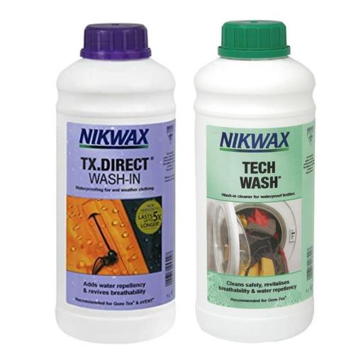 Nikwax Twin Tech Wash / TX Direct Wash-In – 2 x 1 L