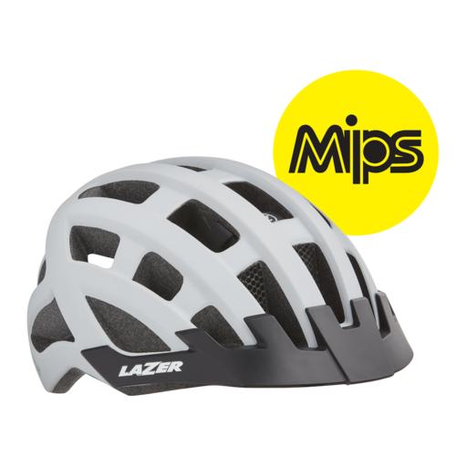 Lazer Compact dlX MiPS Helmet – White