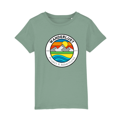 Project X Original Wanderlust Kid's T-Shirt – Mid Heather Green