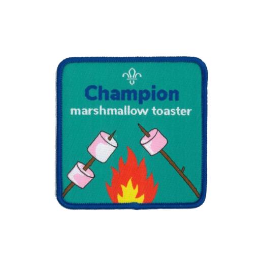 Champion Marshmallow Toaster Fun Badge