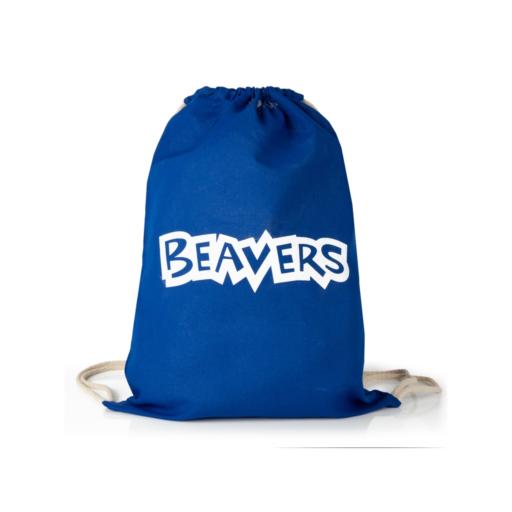 Beavers Cotton Drawstring Bag Scouting Gift