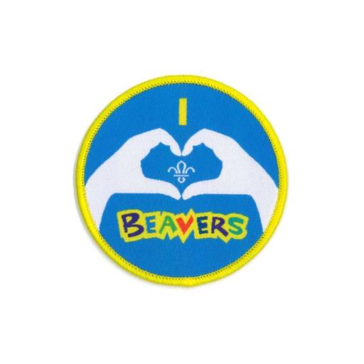 Beavers I Heart Beavers Fun Badge