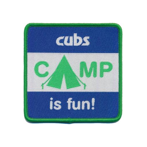 """Cubs """"Camp is Fun!"""" Fun Badge"""