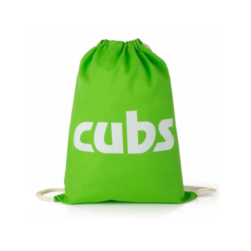 Cubs Cotton Drawstring Bag Scouting Gift