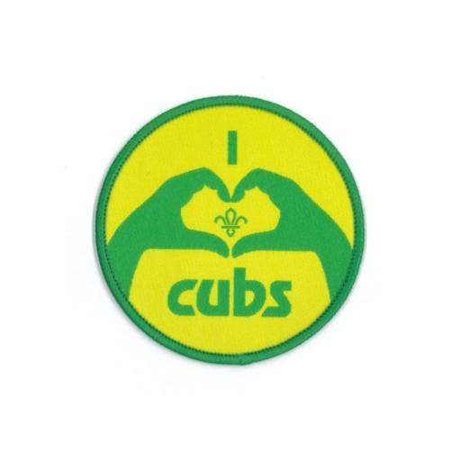 Cubs I Heart Cubs Fun Badge