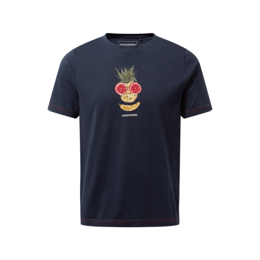Craghoppers Kid's Gibbon Short Sleeved T-Shirt – Blue Navy Fruit Face