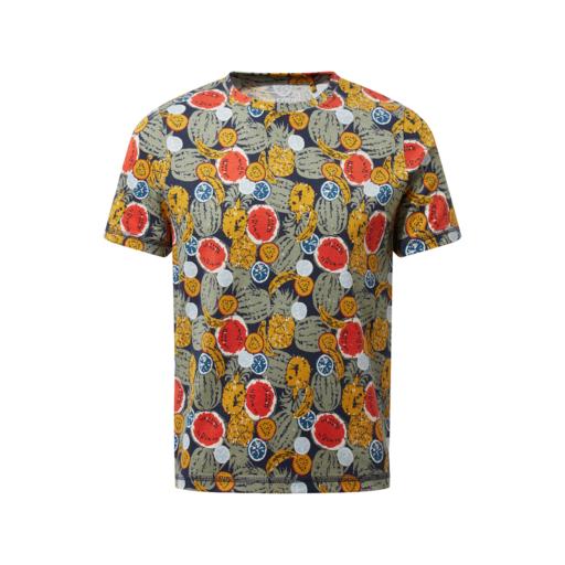 Craghoppers Kid's Gibbon Short Sleeved T-Shirt – Blue Navy Fruit Print