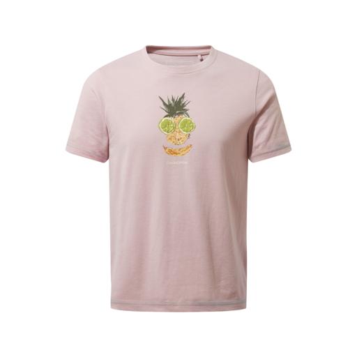 Craghoppers Kid's Gibbon Short Sleeved T-Shirt – Brushed Lilac Fruit Face