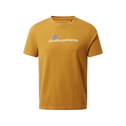 Craghoppers Kid's Gibbon Short Sleeved T-Shirt – Dark Butterscotch Brand Carrier