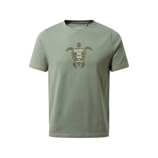 Craghoppers Kid's Gibbon Short Sleeved T-Shirt – Sage Turtle