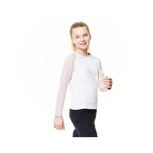 Craghoppers Kid's NosiBotanical Abbott Long Sleeved T-Shirt – Optic White / Brushed Lilac