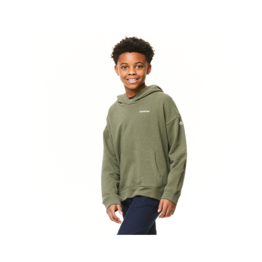 Craghoppers Kid's NosiBotanical Madray Hooded Top – Parka Green