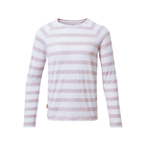 Craghoppers Kid's NosiLife Paola Long Sleeved T-Shirt – Brushed Lilac Stripe