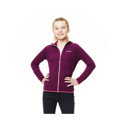 Craghoppers Kid's NosiLife Symmons Hooded Jacket – Blackcurrant