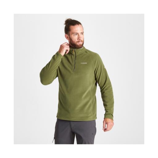 Craghoppers Men's Corey VI Half Zip Fleece – Bottle Green