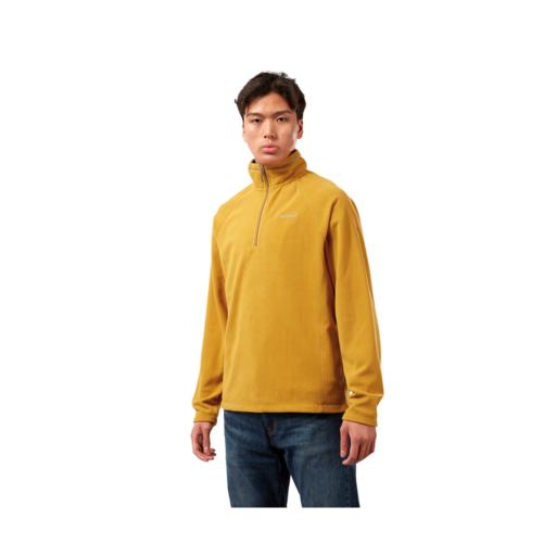 Craghoppers Men's Corey VI Half Zip Fleece – Dark Butterscotch