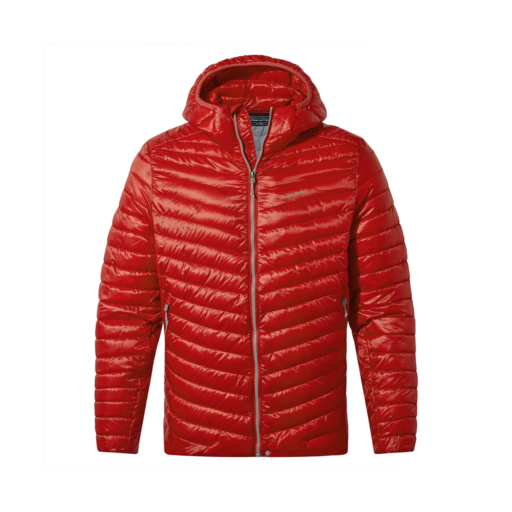 Craghoppers Men's Expolite Hooded Jacket – Pompeian Red