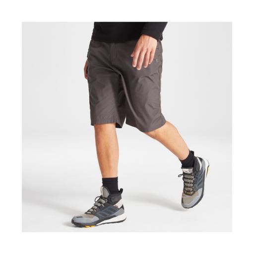 Craghoppers Men's Kiwi Long Shorts – Black Pepper