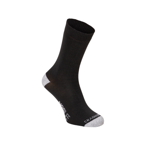 Craghoppers Men's NosiLife Adventure Socks – Charcoal / Soft Grey Marl – Twin Pack