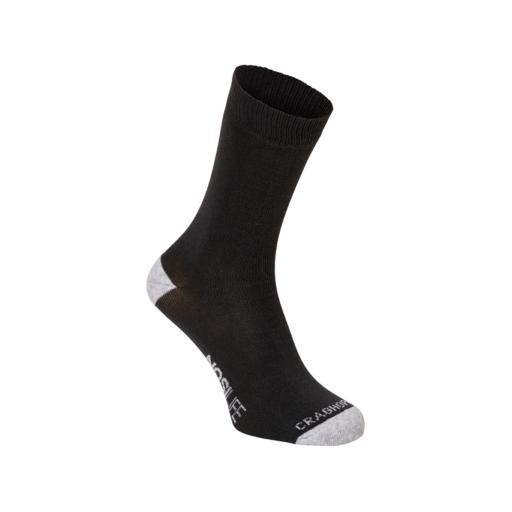 Craghoppers Men's Single NosiLife Travel Socks – Charcoal / Soft Grey Marl