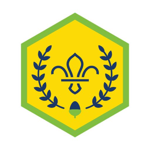 Squirrels Chief Scout Acorn Award Badge