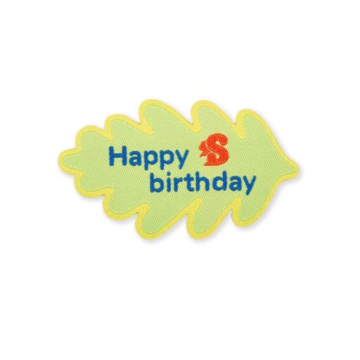 Squirrels Happy Birthday Fun Badge